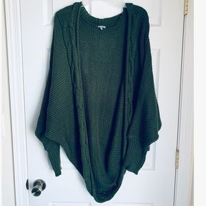Charlotte Russe Green Bubble Sweater